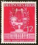 Stamps Germany -  DEUTSCHES REICH - VIENA CIUDAD DE LA CULTURA