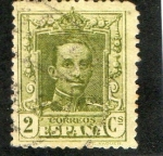 Stamps Spain -  310- Alfonso XIII. Tipo Vaquer.
