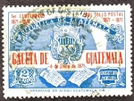 Stamps of the world : Guatemala :  1ER. Centenario del Sello Postal Gaceta de Guatemala