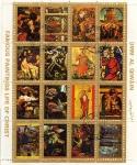 Stamps Asia - United Arab Emirates -  pinturas famosas de la vida de Cristo