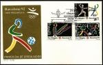 Stamps Spain -  Preolimpica Barcelona 92 - Gimnasia -Esgrima -Fútbol - SPD