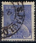 Stamps Brazil -  Scott  254  Mercury (7)