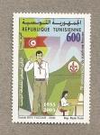 Sellos del Mundo : Africa : Túnez : 70 Aniv. boy scouts de Túnez