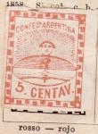 Sellos de America - Argentina -  Primer sello editado 1856