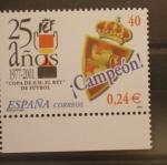 Sellos del Mundo : Europa : España : 25 AÑOS COPA SSMM EL REY DE FUTBOL, ZARAGOZA CAMPEON