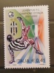 Sellos de Europa - Italia -  FUTBOL, JUVENTUS DE TURIN CAMPEONA DE ITALIA 2001/02