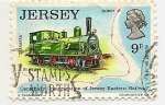 Stamps Europe - Jersey -  Ferrocarril