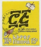 Stamps Ethiopia -  75° del Servicio Postal
