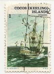 Stamps Europe - Isle of Man -  Barcos-Islas Coco