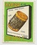 Stamps : Africa : Ethiopia :  Instrumento Musical