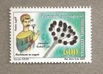 Stamps Tunisia -  Flor artificial en plata