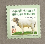 Sellos de Africa - Túnez -  La bella Aries