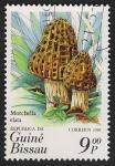 Stamps Guinea Bissau -  SETAS-HONGOS: 1.161.0002,02-Morchella elata -Phil.47739-Dm.985.15-Y&T.345-Mch.847-Sc.635b