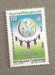Stamps Tunisia -  Declaración Universal de los derechos del Hombre