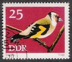 Stamps Germany -  AVES: 2.152.105,01-carduelis carduelis -Phil.157951-Y&T.1535-Mch.1838-Sc.1457