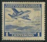 Stamps Chile -  Scott C227 - Avión sobre lago de montaña