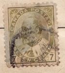 Sellos de America - Canadá -  Eduardo VII