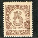 Stamps : Europe : Spain :  745-  Cifras. República Española.