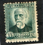 Stamps Europe - Spain -  657- NICOLAS SALMERON.   REPUBLICA ESPAÑOLA