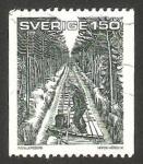 Sellos del Mundo : Europa : Suecia : 1143 - hijo con su padre