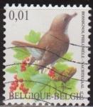 Sellos del Mundo : Europa : Bélgica : Belgica 2003 Scott 1970 Sello º Aves Oiseaux Rossignol Philoméle 0,01€ Belgique Belgium