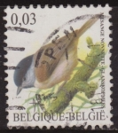 Sellos del Mundo : Europa : Bélgica : Belgica 2005 Scott 2071 Sello º Aves Oiseaux Mesange Nonnette 0,03€ Belgique Belgium