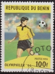 Sellos del Mundo : Africa : Benin : Benim 1996 Scott 960 Sello * Olymphilex Deportes Futbol Football Soccer 90F Preobliteré Matasello de