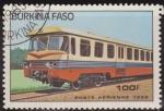Sellos del Mundo : Africa : Burkina_Faso : Burkina Faso 1985 Scott 735 Sello º Tren Locomotoras Diesel Railcar 100fr Ex Alto Volta