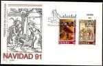 Stamps Spain -  Navidad 1991 - SPD