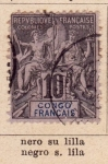 Stamps : Africa : Republic_of_the_Congo :  Posesion Francesa Ed. 1893