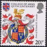 Stamps Europe - United Kingdom -  HERÁLDICA. ESCUDO DE ARMAS DE RICARDO III. RESERVADO