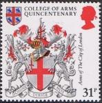 Stamps Europe - United Kingdom -  HERÁLDICA. ESCUDO DE ARMAS DE LA CIUDAD DE LONDRES. RESERVADO
