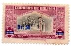 Stamps Bolivia -  IV CENTENARIO FUNDACION DE LA PAZ-1548-1948