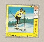 Stamps Yemen -  Juegos Olimpicos Invierno Sapporo 1972