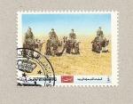 Sellos de Asia - Yemen -  Caravana desierto