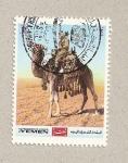 Stamps Yemen -  Jinete sobre camello
