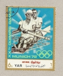Stamps Yemen -  Juegos oimpicos Munich