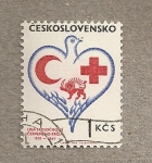 Stamps Europe - Czechoslovakia -  50 Aniv. Liga Cruz roja y Media Luna roja