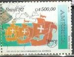 sellos de America - Brasil -  500 Años del Descubrimiento de America