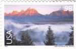 Stamps : America : United_States :  Grand Teton National Park. Wyoming
