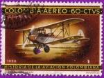 Stamps : America : Colombia :  Historia de la aviación colombiana