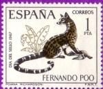 Stamps : Europe : Spain :  Fernando Poo - Día del sello 1967