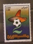 Stamps of the world : Algeria :  MUNDIAL FUTBOL MEXICO 86