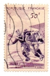 Stamps : Europe : France :  1956-SERIE DEPORTIVA-RUGBY