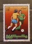 Stamps Africa - Algeria -  MUNDIAL FUTBOL MEXICO 86