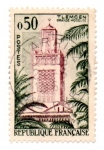 Stamps : Europe : France :  1960-SERIE TURISTICAS-TLEMCEN.( GRANDE MOSQUEE )