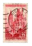Stamps : Europe : France :  1957-SERIE TURISTICAS(CATEDRAL-DE-ROUEN)