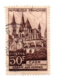 Stamps : Europe : France :  1951-CAEN--ABBAYE AUX HOMMES