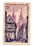 Stamps : Europe : France :  1954-SERIE TURISTICAS--QUIMPER