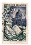 Stamps : Europe : France :  1954-PRODUCTOS DE LUJOS-SERIE-EDITION ET RELIURE